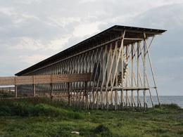 Μνημειακή εγκατάσταση στην περιοχή Steilneset,Νορβηγία
