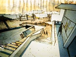 (167.12) Σπονδυλωτή πλατεία στα Φηρά της Σαντορίνης