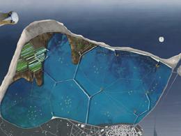 Highlighting the wetland of Lefkada using Voronoi patterns