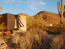 Miner's shelter in Arizona