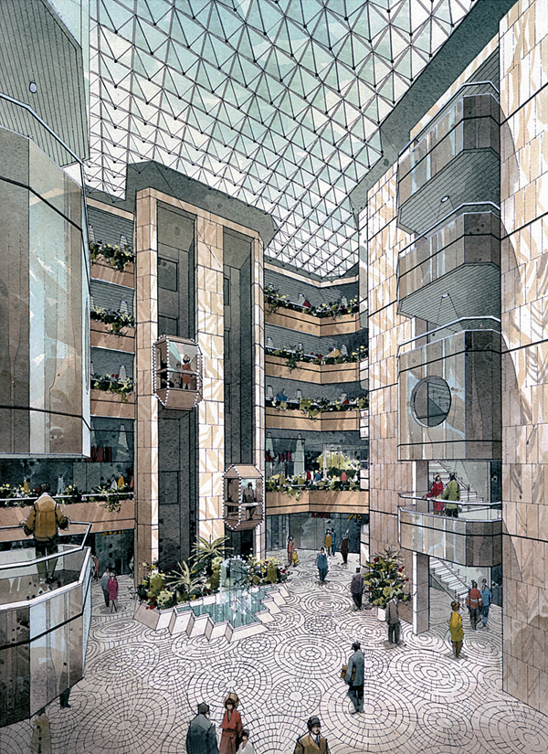 Articles Architectural Projects Categories Office Atrium Shopping Centre Athens
